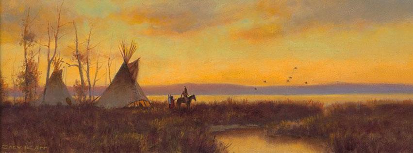 Painting Shoshone Sunset by Gary Kapp