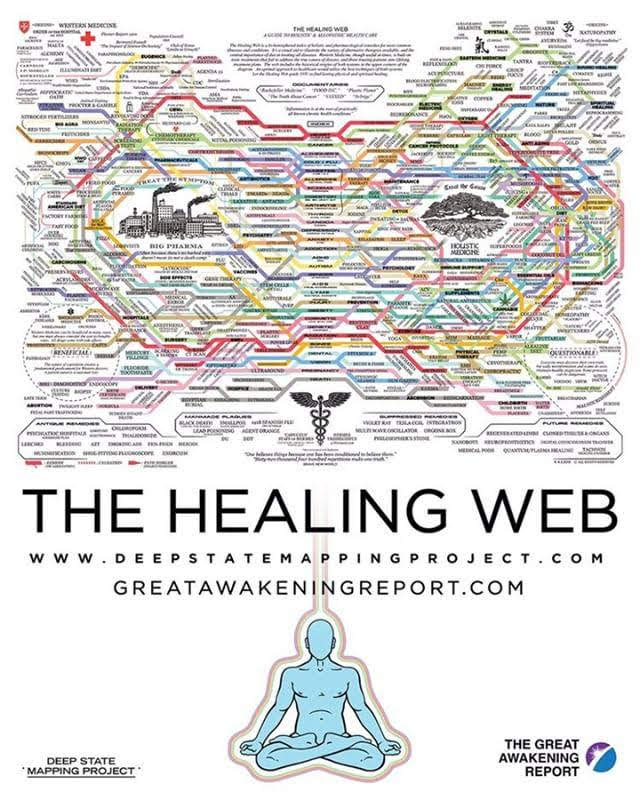 The Healing web, door Dylan Louis Monroe